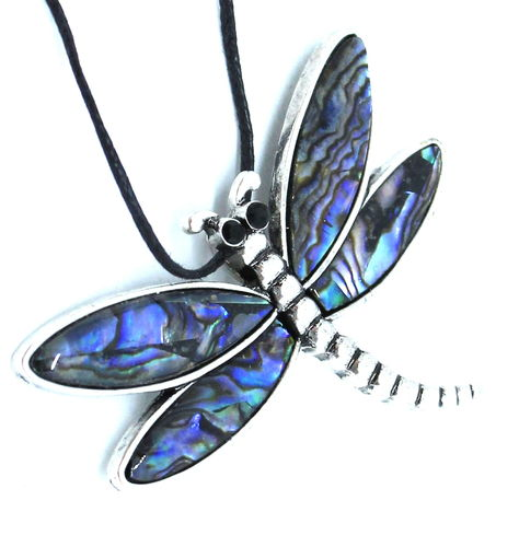 DRAGON FLY PENDANT BROOCH MOTHERPEARL PENDANT