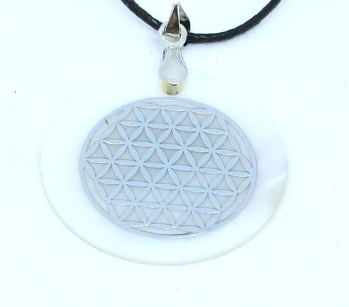 MOTHERPEARL FLOWER OF LIFE PENDANT